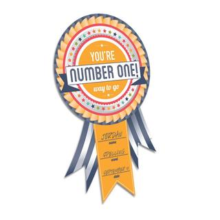 Removeable Number One Award Cling (Pack of 3)