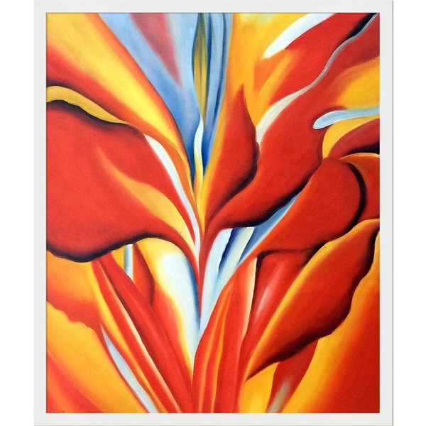 Shop Georgia O'Keeffe 'Red Canna, 1924' Hand Painted Framed Canvas on