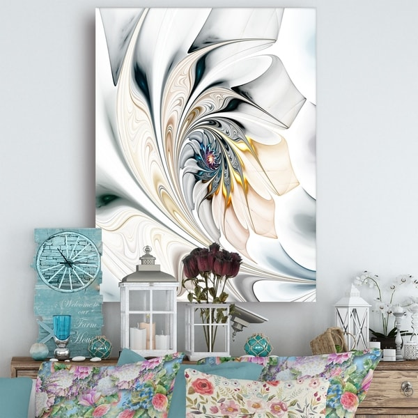 Shop White Stained Glass Floral Art Large Floral Wall