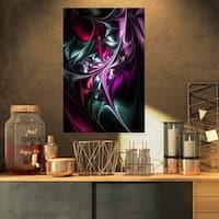 Multicolored Abstract Floral Shapes - Large Floral Wall Art Canvas - Red