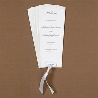 Brides White Paper Fan Programs (Case of 40)