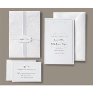 Brides White Pocket Invite Kit 30 count