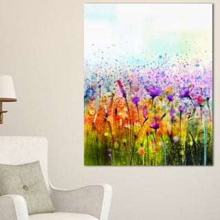 Abstract Cosmos of Colorful Flowers - Large Flower Canvas Wall Art