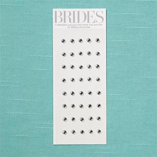 Brides White Rhinestone Embellishments 40 count