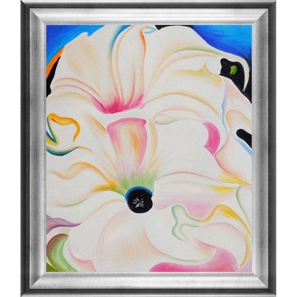 Shop Georgia O'Keeffe 'Bella Donna, 1939' Hand Painted Framed Canvas on