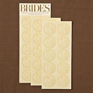 Brides Ivory Flocked Seals (40 Count)
