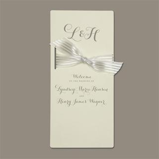 Brides Ivory Program Paper (Pack of 40)