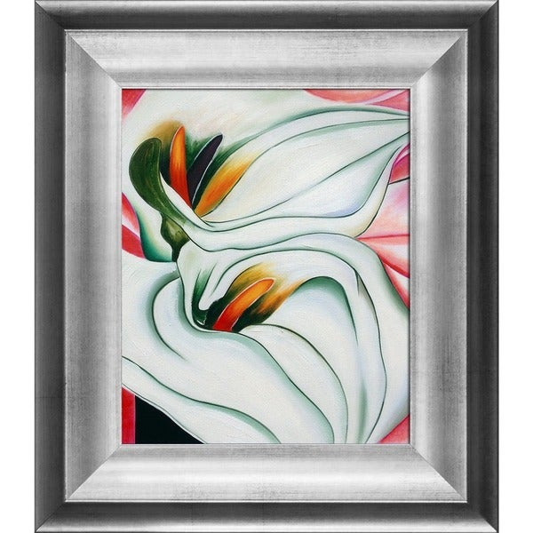 Shop Georgia O\'Keeffe \'Two Calla Lillies On Pink, 1928\' Hand Painted ...
