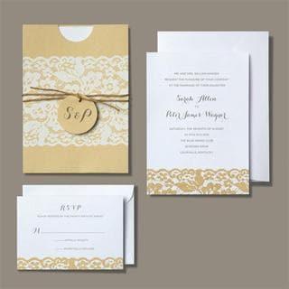 Brides Rustic Chic Invitation Kit 30 count