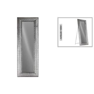 Silver Metal Rectangular Easel-style Floor Mirror