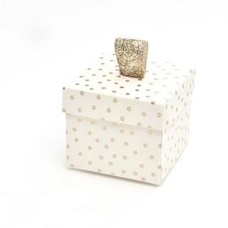 Brides Gold Foil Dots Favor Box Kit (40 Count)