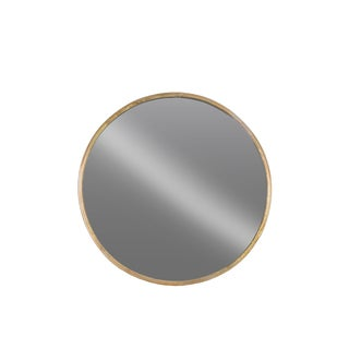 Urban Trends Collection Tarnished-finished Gold Metal Round Wall Mirror
