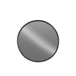Black Metal Tarnished Round Wall Mirror