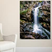 Waterfall in Sofia Bulgaria - Landscape Art Print Canvas - Multi-color