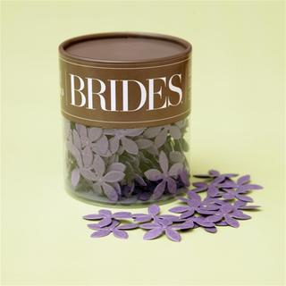 Brides Purple Paper Floral Confetti