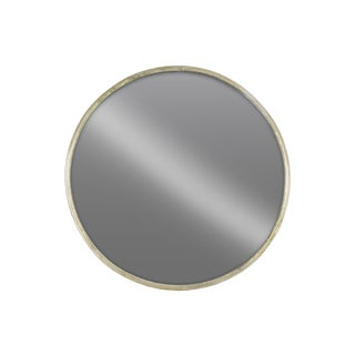 Urban Trends Collection Tarnished Champagne-finish Metal Round Wall Mirror