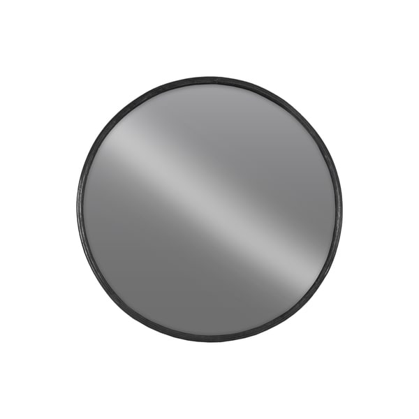 Urban trends collection black metal large round wall for Round black wall mirror