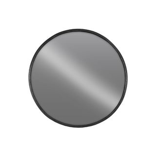Urban Trends Collection Black Metal Large Round Wall Mirror