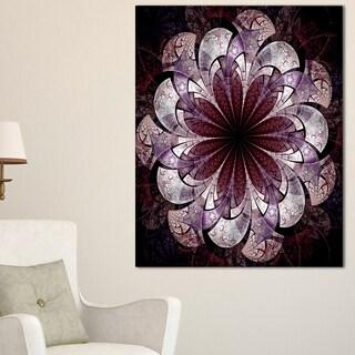 Soft Pink Digital Art Fractal Flower - Large Floral Canvas Art Print