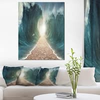 Pathway through the Parted Seas - Large Seashore Canvas Print