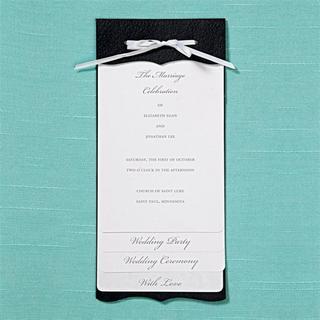 Brides Black/White Multilayered Program/Invitation Paper (40 count)