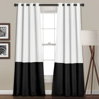 Lush Decor Room Darkening Color Block Curtain Panel Pair - 52 x 84