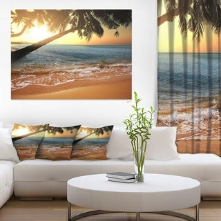 Beautiful Sunset on Tropical Beach - Large Seashore Canvas Print