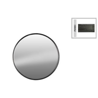 Urban trends Collection Gunmetal Grey Tarnished-finish Metal Round Wall Mirrror