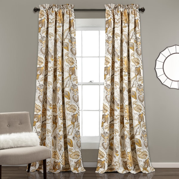 lush decor cynthia jacobean curtain panel pair free shipping today