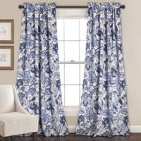 Lush Decor Cynthia Jacobean Room-darkening Curtain Panel Pair