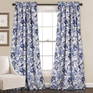 Lush Decor Cynthia Jacobean Room-darkening Curtain Panel Pair