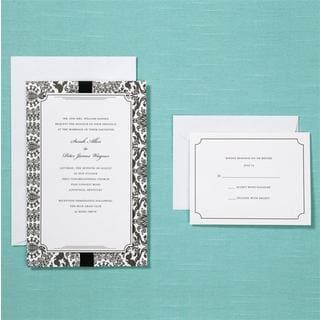 Brides Black Damask 40-count Invitation Kit