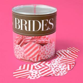 Brides White/Pink Pink Pattern Confetti