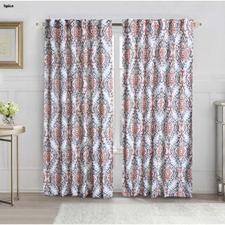VCNY Logan Back Tab Single Curtain Panel