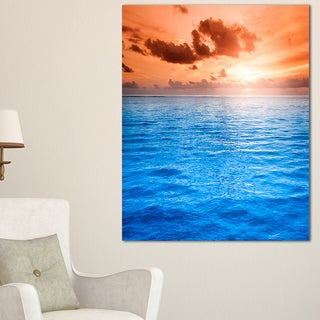 Brilliant Blue Waters under Sunset - Seashore Canvas Wall Art