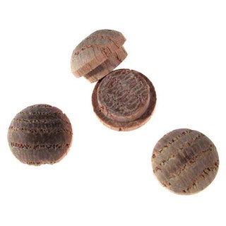 "Waddell 8400.38 OAK DP 3/8"" Oak Wooden Buttonhead Plugs 12-count"
