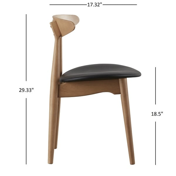 Norwegian Danish Tapered Dining Chairs (Set Of 2) INSPIRE Q Modern   Free  Shipping Today   Overstock.com   19235952