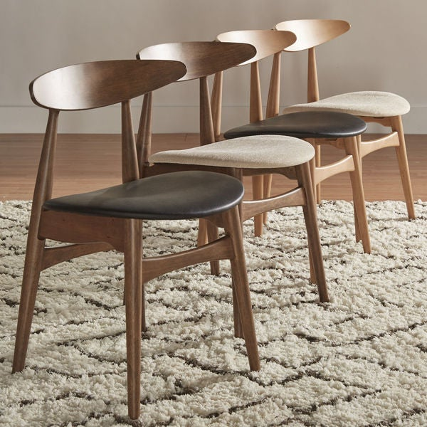 Inspire Q Modern Norwegian Danish Tapered Dining Chairs