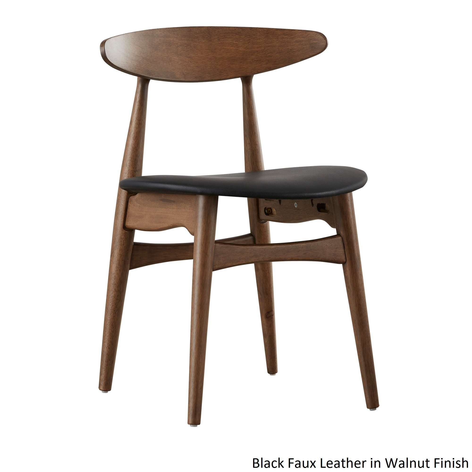 black wood dining chair. Palm Canyon Cerca Modern Norwegian Danish Tapered Dining Chairs (Set Of 2) (Option Black Wood Chair