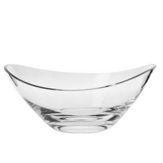 KROSNO Handmade Glass Swoop Bowl, 9-inch Diameter