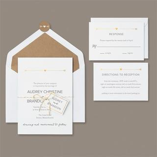 Brides Gold Refined Rustic 30-count Invitation Kit