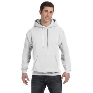 Men's Comfortblend Ecosmart 50/50 White Pullover Hood