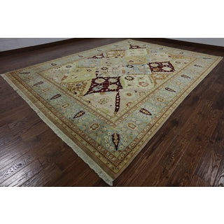 Hand-Knotted Oriental Peshawar Multi Wool Rug (9' X 12' 1)