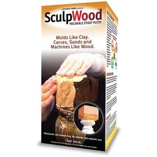 System Three 1600K16 Quart SculpWood Moldable Epoxy Putty