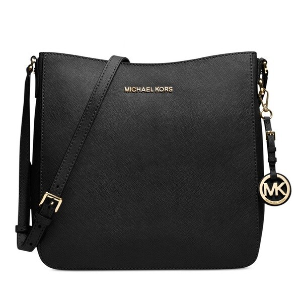 michael kors large jet set travel black crossbody handbag. Black Bedroom Furniture Sets. Home Design Ideas