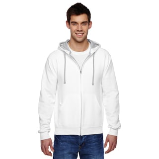 Men's Sofspun Full-Zip Hooded White Sweatshirt