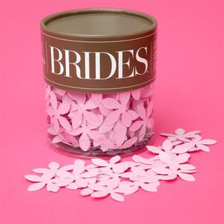Brides Pink Flower Table Confetti