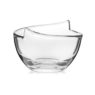 Krosno Glass 6.5-inch Diameter Handmade Notch Bowl