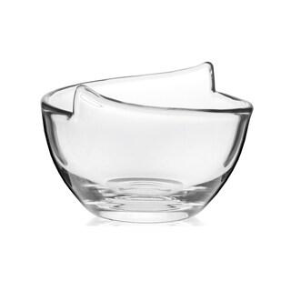 Krosno Glass 6.5-inch Diameter Handmade Notch Bowl