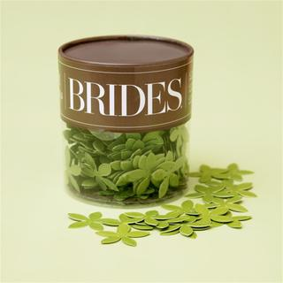 Brides Green Flower Table Confetti